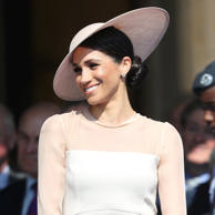 Our brains are still reeling from all the amazing looks Meghan Markle wore for her wedding to Prince Harry. For her first royal engagement as the Duchess of Sussex, Meghan took a styling cue from her sister-in-law Kate Middleton by wearing one of Kate's go-to brands, Goat. While Meghan looked stunning in her peachy-pink dress and bespoke Philip Treacy hat, it was what was on her wrist that caught everyone's attention. The former actress wore a delicate diamond tennis bracelet that looks awfully similar to one Cartier sells for a cool $20,000. The stunning bracelet was reportedly gifted to Meghan by Prince Harry on their wedding night. The prince could've been continuing a sweet tradition honoring his late mother, Princess Diana, since she received an aquamarine ring on her own wedding night and also owned a similar diamond tennis bracelet. (Meghan actually wore the gorgeous aquamarine ring during her reception!) Keep reading to see all angles of Meghan's beautiful bracelet and buy similar versions.Related: OMG - Meghan Markle's Wedding Tiara Is So Sparkly, She Looks Like a Disney Princess IRL