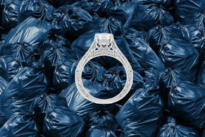 'We had a woman in New York City mistakenly toss her diamond ring into the trash. She then paid to have one of the massive barges that took waste from Manhattan to Fresh Kills landfill pulled out of service so the garbage collectors could dig through the thousands of tons of trash until they found it. Thankfully, they did!' —Kelly Sarber, President & CEO of Strategic Management Group