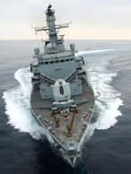 Ministry of Defence undated handout photo of HMS Montrose, a Type 23 Frigate which will be taking part in Exercise Cougar
