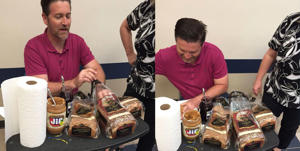 Did you ever have a teacher this sweet?: This Teacher Made PB&J's For All His Students