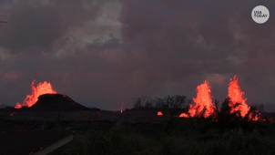 One Hawaiian is staying put despite flowing lava nearby