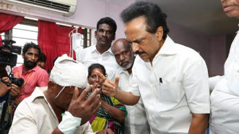 Stalin, Kamal Haasan, Thirumavalavan, Thirunavukkarasar, K Balakrishnan and a few others have been booked under section 143, 188 and 153(a) of the Indian Penal Code. In picture is MK Stalin. Photo: MKStalin/Twitter