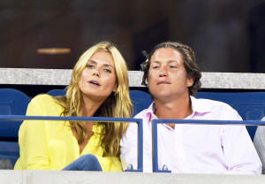 a close up of a person: Heidi Klum and Vito Schnabel attend the 2014 US Open at USTA Billie Jean King National Tennis Center in New York City.