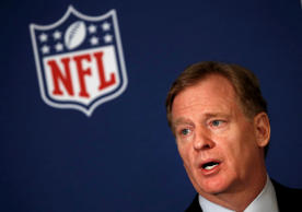 NFL commissioner Roger Goodell tells reporters the NFL team owners have reached agreement Wednesday on a new league policy that requires players to stand for the national anthem or remain in the locker room.