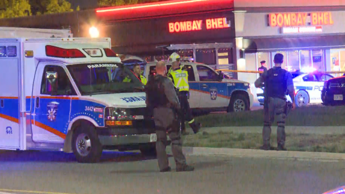 Peel Paramedics have taken 15 patients to hospital after a blast at an Indian restaurant in Mississauga. (Tony Smyth/CBC)