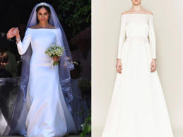 meghan markle wedding dress comparison