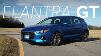 a car parked in a parking lot: 2018 Hyundai Elantra GT Road Test