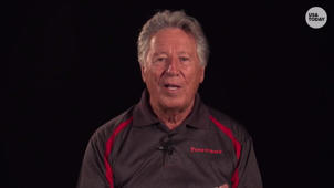 a man wearing a black shirt: Racing legend Mario Andretti reflects on the Indy 500