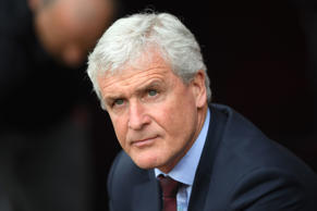 SOUTHAMPTON, ENGLAND - APRIL 28:  Mark Hughes, Manager of Southampton looks on prior to the Premier League match between Southampton and AFC Bournemouth at St Mary's Stadium on April 28, 2018 in Southampton, England.  (Photo by Mike Hewitt/Getty Images)