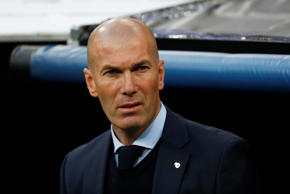 Soccer Football - Champions League Semi Final Second Leg - Real Madrid v Bayern Munich - Santiago Bernabeu, Madrid, Spain - May 1, 2018   Real Madrid coach Zinedine Zidane      REUTERS/Juan Medina