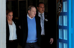 Film producer Harvey Weinstein leaves the 1st Precinct in Manhattan in New York, U.S., May 25, 2018.