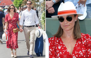 PARIS, FRANCE - MAY 27:  James Matthews and Pippa Middleton attend the 2018 French Open - Day One at Roland Garros on May 27, 2018 in Paris, France.  (Photo by Stephane Cardinale - Corbis/Corbis via Getty Images); PARIS, FRANCE - MAY 27:  Pippa Middleton attends the 2018 French Open - Day One at Roland Garros on May 27, 2018 in Paris, France.  (Photo by Bertrand Rindoff Petroff/Pierre Suu/Getty Images)