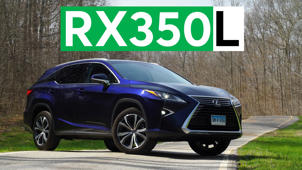 a car parked on the side of a road: 2018 Lexus RX350L Road Test
