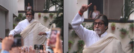 Mumbaikars go berserk as Amitabh dances on Badumbaa