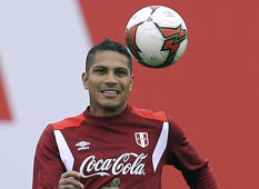 "FILE - In this Sunday, Oct. 8, 2017 file photo, Peru's Paolo Guerrero trains for his upcoming World Cup qualifying match in Lima, Peru. Peru captain Paolo Guerrero will be eligible for next year's World Cup after FIFA reduced his suspension for doping from one year to six months. FIFA announced Wednesday, Dec. 20 that its disciplinary committee considered the six-month ban a proportionate sanction ""after taking into account all circumstances of the case."" (AP Photo/Martin Mejia, file)"