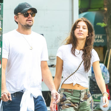 Slide 1 of 7: Leonardo DiCaprio took a sunny stroll with his girlfriend, model Camila Morrone, in NYC on Tuesday. The couple dressed down in white t-shirts and sneakers for their walk through the West Village, where they were spotted staying close on the street and grabbing a cab. Leo and Camila have been dating since late 2017, and we got our glimpse of them together in public in March 2018. Weeks later, they were spotted in the crowd at Coachella, and appeared to get cozy after a dinner date in LA in May. Earlier this week, they made separate exits after grabbing dinner in NYC with Camila's model pal Hailey Baldwin.Leo is usually one of the A-list celebrities we see at the Cannes Film Festival, so we'll just have to wait and see if he and Camila pop up in the South of France before the festivities close on Saturday.Related: A Not-So-Brief History of All the Ladies Leonardo DiCaprio Has Dated