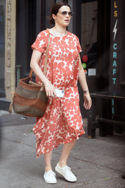 Slide 1 of 168: Rachel Weisz shows off her growing baby bump on Tuesday while out and about in New York City.
