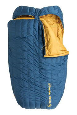 Slide 1 of 10: $399.95 BUY NOWWhen you and your partner backpack together frequently in cold weather, sleeping on opposite sides of the tent just won't cut it. Cuddle up side-by-side in this 15-degree down bag, and you'll have double the body heat to keep you warm. The King Solomon has a mini ripstop microfiber soft shell and a unique draping effect, so it comes pretty darn close to being as cloud-like as your bed's down comforter. Plus, the sleeve on the underside accepts either two single pads or one double-wide sleeping pad, so you won't slide off the pad in the middle of the night. More: 11 Sleeping Pads for Catching More Zzz's While Camping