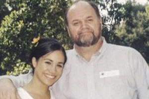 Meghan Markle and Thomas Markle.