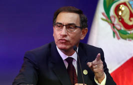 Peru's President Martin Vizcarra speaks at a press conference at the end of the VIII Summit of the Americas in Lima, Peru April 14, 2018. REUTERS/Guadalupe Pardo