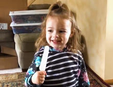 Little girl struggles to pronounce the word 'popsicle'