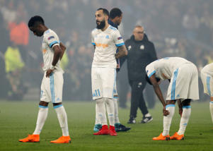 Soccer Football - Europa League Final - Olympique de Marseille vs Atletico Madrid - Groupama Stadium, Lyon, France - May 16, 2018   Marseille's Konstantinos Mitroglou looks dejected after the match    REUTERS/John Sibley