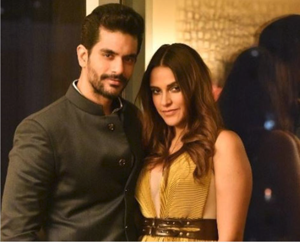 Neha Dhupia and Angad Bedi were in the US for a work trip immediately after the wedding.(Instagram)