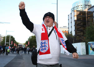5th October 2017, Wembley Stadium, London, England; FIFA World Cup Qualification, England versus Slovenia; England fans arriving at Wembley Stadium (Photo by John Patrick Fletcher/Action Plus via Getty Images)