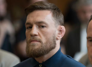 Mixed martial arts fighter Conor McGregor stands during his arraignment in a New York City courtroom on charges of assault in New York, NY, U.S., April 6, 2018.   Mary Altaffer/Pool via REUTERS