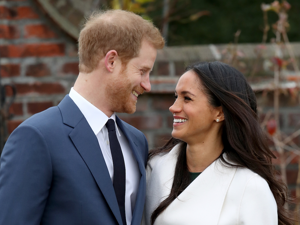 a man wearing a suit and tie standing next to a woman:  On November 27, 2017, Prince Harry and Meghan Markle announced the happy news of their engagement to the world. While the two have kept their relationship relatively private, they've revealed a few details about their upcoming royal wedding since then. Below, we've rounded up everything we know about their wedding so far, including where it'll take place, what Markle might wear, and who'll probably be invited.
