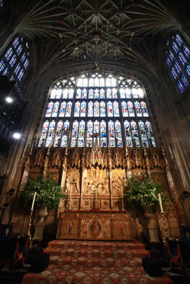 The Church: St. George's Chapel at Windsor Castle is all set for the big day.