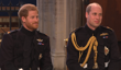 Harry and William have a laugh while waiting for Meghan