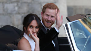 Prince Harry et al. taking a selfie in a car: Best Gossip About the Royal Wedding Reception