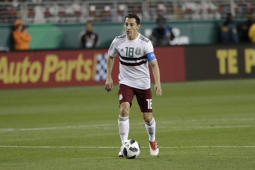 Mexico's Andres Guardado during the first half of an international friendly soccer match Friday, March 23, 2018, in Santa Clara, Calif. (AP Photo/Marcio Jose Sanchez)