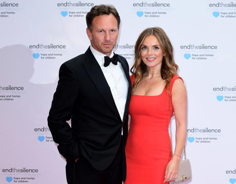 שקופית 3 מתוך 34: Christian Horner and Geri Horner attending the End the Silence Charity Fundraiser at Abbey Road Studios, London. (Photo by Ian West/PA Images via Getty Images)