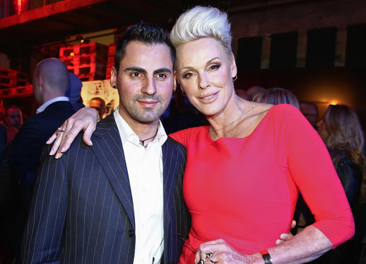 שקופית 2 מתוך 34: BERLIN, GERMANY - APRIL 13:  Brigitte Nielsen and her husband Mattia Dessi  attend the Jaguar F-Type short film 'The Key' Premiere at e-Werk on April 13, 2013 in Berlin, Germany.  (Photo by Andreas Rentz/Getty Images)