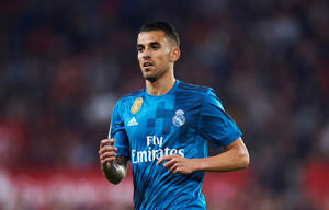 Dani Ceballos of Real Madrid CF reacts during the La Liga match between Sevilla FC and Real Madrid at Ramon Sanchez Pizjuan stadium on May 9, 2018 in Seville, Spain.