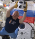 Russian cosmonauts take World Cup into space