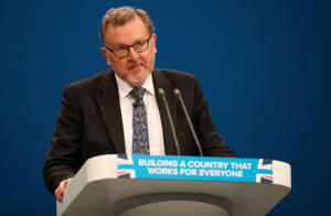 Britain's Secretary of State for Scotland David Mundell speaks at the Conservative Party's conference in Manchester, October 2, 2017. REUTERS/Phil Noble