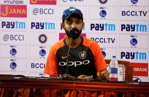 Ajinkya Rahane addresses a news conference