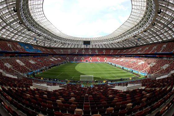 Diapositiva 1 de 24: MOSCOW, RUSSIA - JUNE 14:  General view inside the stadium prior to the 2018 FIFA World Cup Russia Group A match between Russia and Saudi Arabia at Luzhniki Stadium on June 14, 2018 in Moscow, Russia.  (Photo by Lars Baron - FIFA/FIFA via Getty Images)