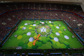 Soccer Football - World Cup - Opening Ceremony - Luzhniki Stadium, Moscow, Russia - June 14, 2018  General view during the opening ceremony  REUTERS/Carl Recine