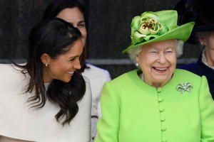 The Duchess of Sussex and The Queen - provided by Shutterstock