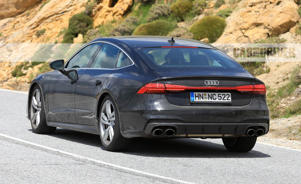 a car parked on the side of a road: 2020 Audi S7 Spied Looking Low-Key Fast
