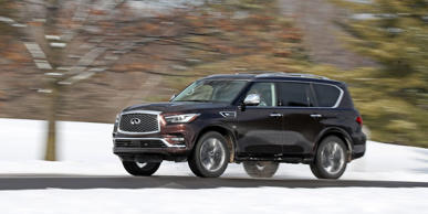 Consider this Infiniti a steal among full-size luxury SUVs-more so given how it doesn't feel like a bargain-bin entry. Read the review of the 2018 QX80 AWD and see photos at Car and Driver.