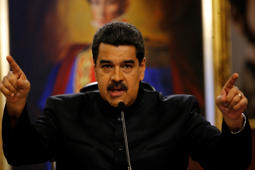 Venezuela's President Nicolas Maduro speaks at a news conference in Caracas, Venezuela, Thursday, June 22, 2017.  (AP Photo/Ariana Cubillos)