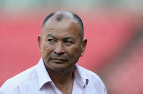 Eddie Jones, the England head coach, looks on during the first test match between South Africa and England at Elllis Park on June 9, 2018 in Johannesburg, South Africa.