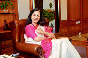 Chanda Kochhar, Managing Director and Chief Executive Officer of ICICI Bank, photographed in Mumbai during an interview with MINT.