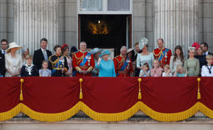 The royal family at Trooping the Colour 2018