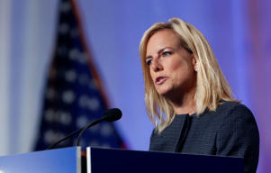 Secretary of Homeland Security Kirstjen Nielsen speaks at the National Sheriffs' Association convention in New Orleans, Monday, June 18, 2018.